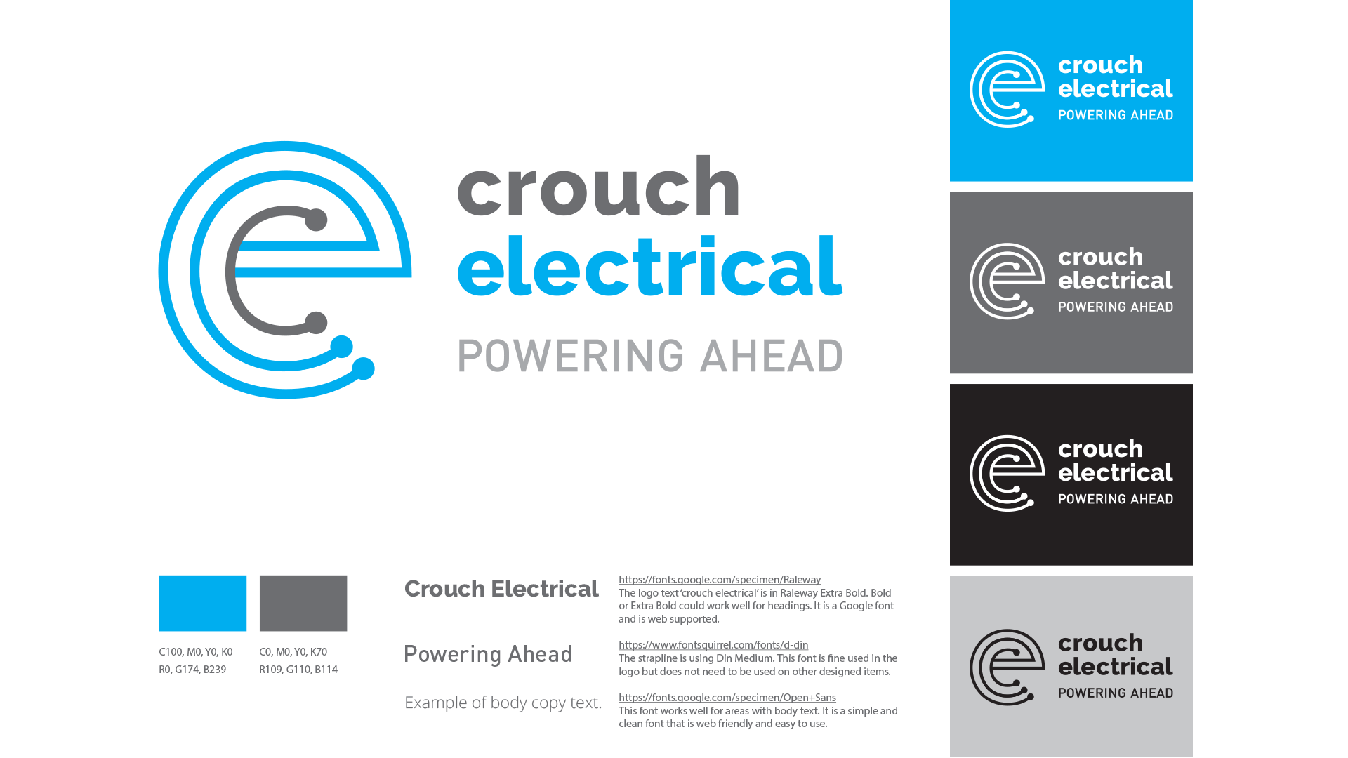 Crouch Electrical brand guidelines