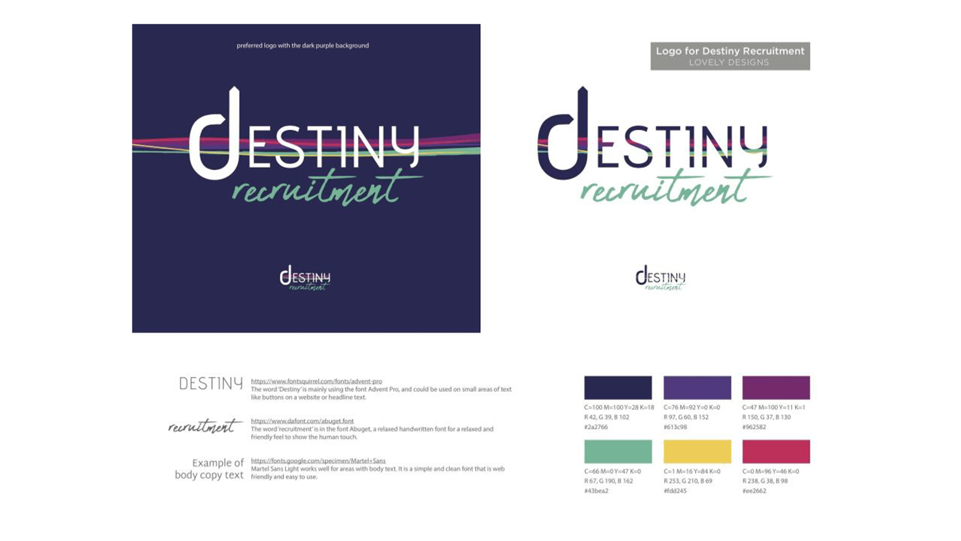 Destiny Recruitment brand guidelines