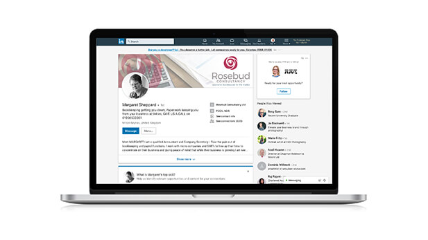 Rosebud Consultancy social media template
