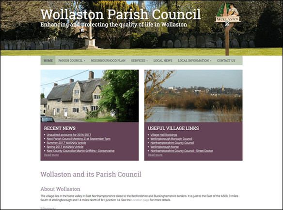 Wollaston Parish Council screenshot thumbnail