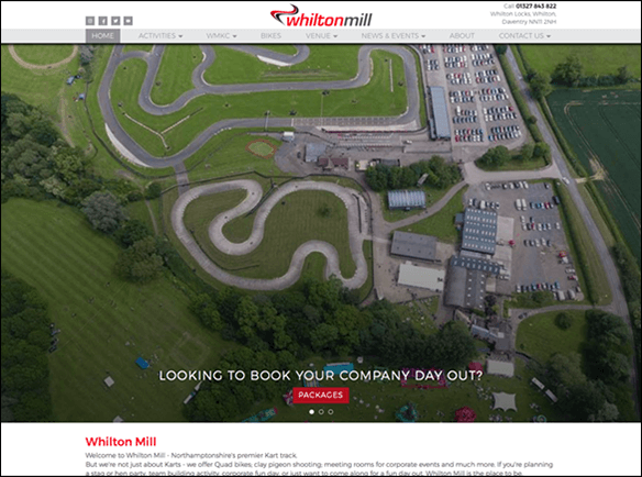 Whilton Mill website screenshot